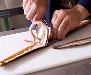 skinning an eel